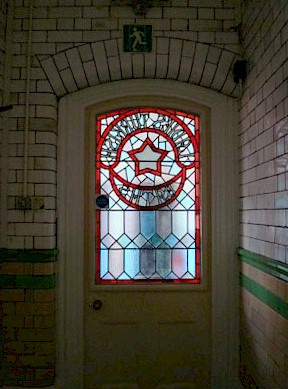 Door from the Ladies Turkish baths, Swindon