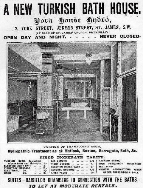 Victorian Turkish Baths England London Jermyn Street