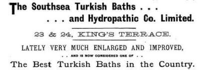 Advert for the baths