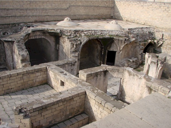 Ruins of the hammam in Shirvanshah Palace, Baku, Azerbaijan