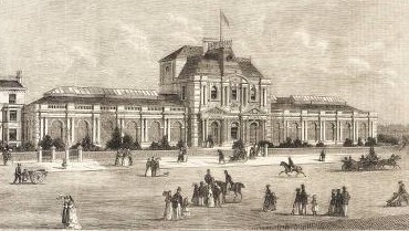 Exterior of the baths in 1871