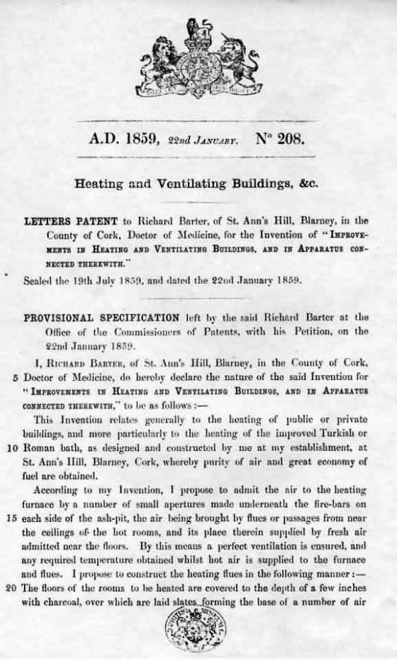 Barter's provisional patent