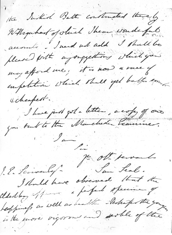 Samuel Seal's letter, page 3/4
