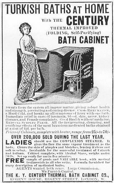 Advertisement for Century Cabinet bath