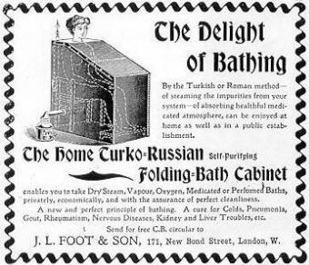 Delight of bathing advertisement