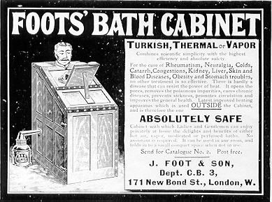 Advertisement for J Foot & Son's bath cabinet