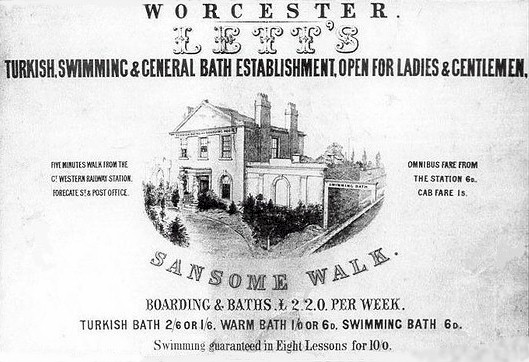 Poster for Lett's Baths, Worcester