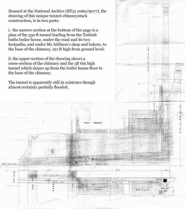 Section and plan of the chimney