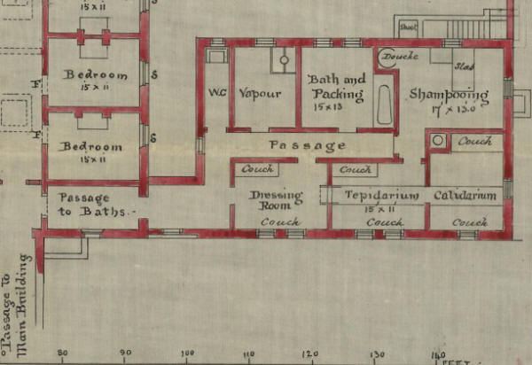 Plan of the Turkish baths