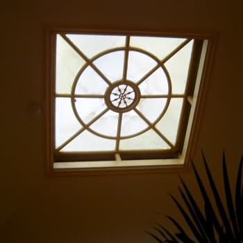 Central roof lantern over plunge pool area