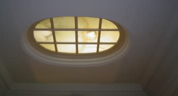 One of several smaller roof lights in plunge pool room