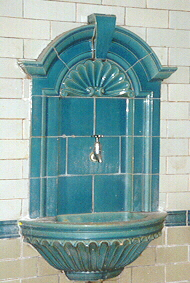 Tiled drinking fountain