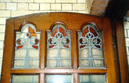 Stained-glass door panel