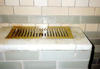 Hot air duct in the Turkishbath at Wightwick Manor