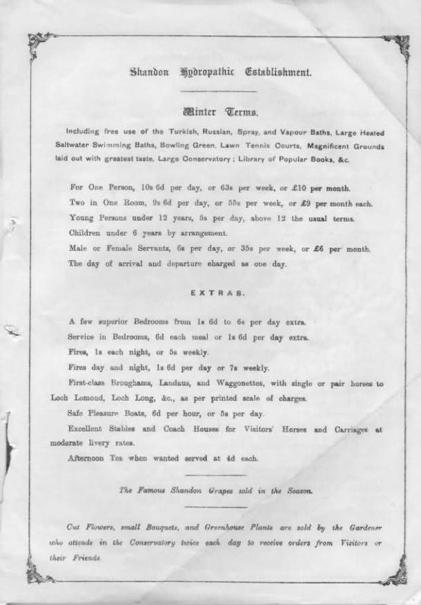 Page 3 of a winter circular from the late 1800s