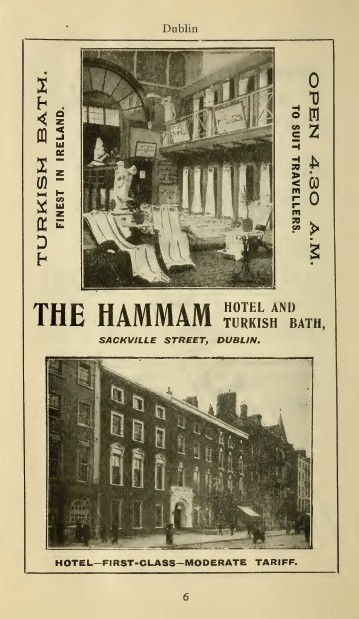 Advertisement for the Hammam