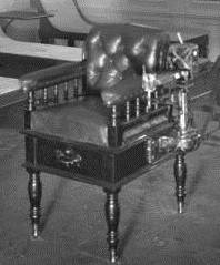 Close-up of the weighing chair