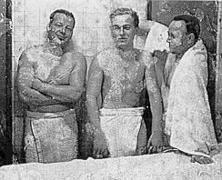 Turkish bath attendants on the Queen Mary