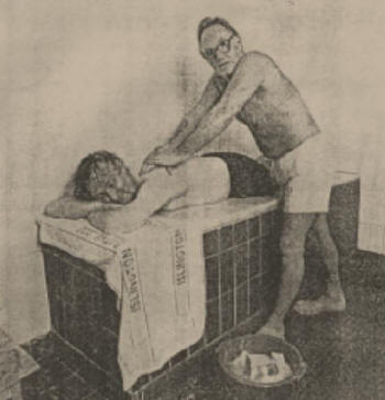 Male shampooer in the 1930s