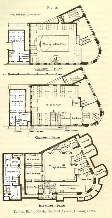 Basement, first, and second floor plans at Northumberland Avenue