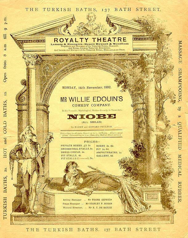 Royalty Theatre programme
