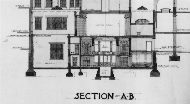 Section through Imperial Turkish Baths